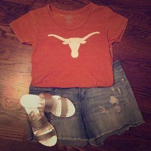 University of Texas longhorn burnt orange shirt- M